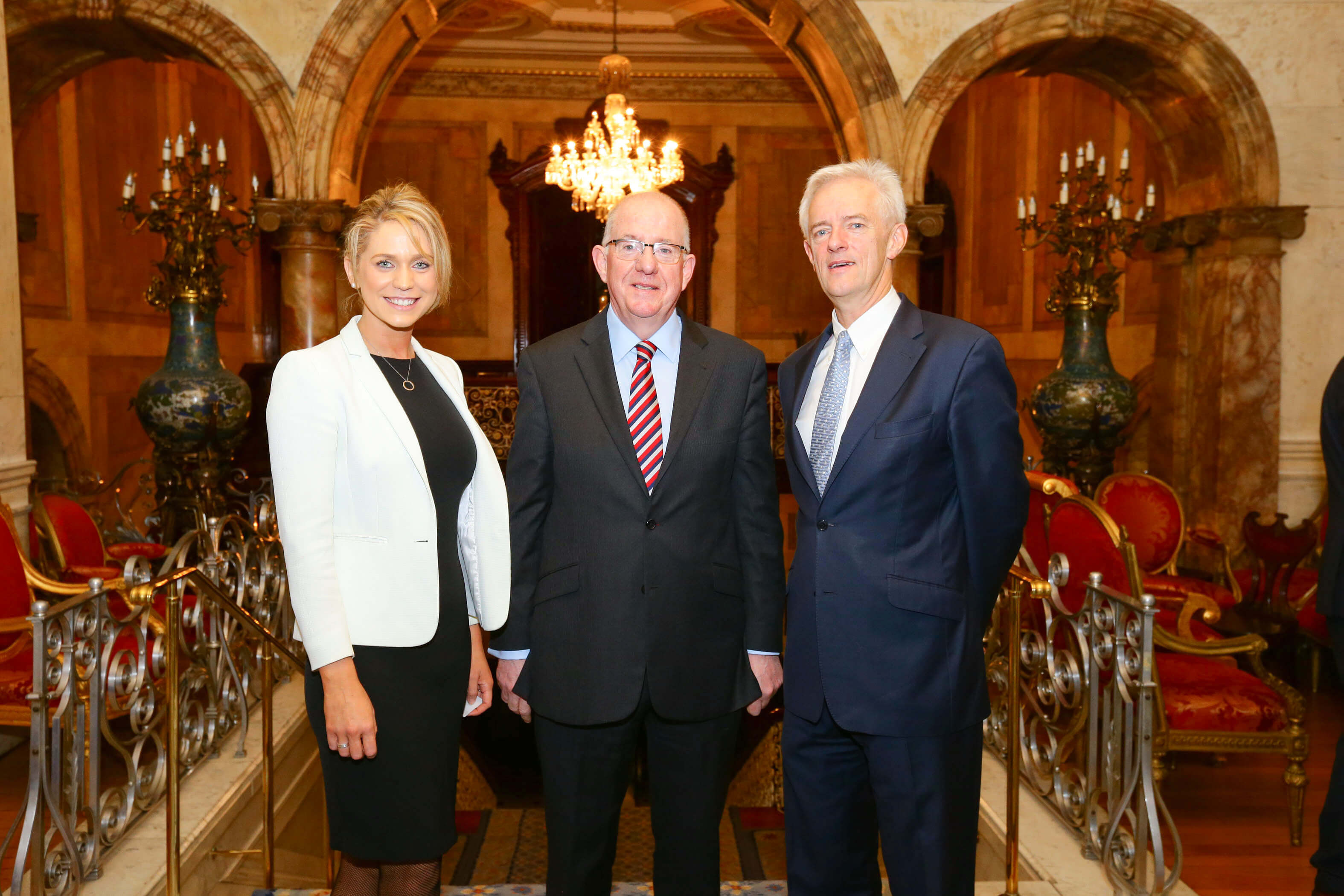 Pictured are Roisin Hogan, Charlie Flanagan T.D. and Minister for Foreign Affairs and Trade and Philip Lee